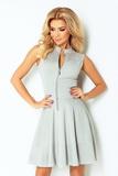 Dámské šaty Numoco 123-6 šedé