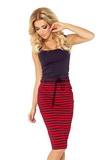 Dámská sukně Numoco 127-1 červeno-černá