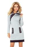 Dámské šaty Numoco 129-1 šedé