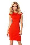 Dámské šaty Numoco 132-4 oranžové