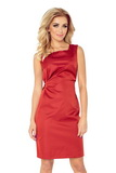 Dámské šaty Numoco 126-4 červeno-oranžové
