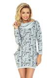Dámské šaty Numoco 135-1 šedé