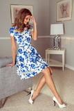 Dámské šaty Morimia 003-3 bílo-modré