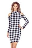 Dámské šaty Morimia 008-2 černo-bílé