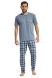 Pánské pyžamo Cornette 13498 Mountain melanžové