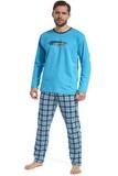 Pánské pyžamo Cornette 12486 Display tyrkysové