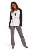 Dámské pyžamo Cornette 145136 Lullaby krémové