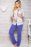 Dámské pyžamo Taro 2126 modré