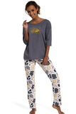 Dámské pyžamo Cornette 143134 Rain grafitové