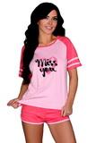 Dámské pyžamo LivCo Corsetti Ejiroma růžové