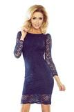 Dámské šaty Numoco 174-1 tmavě modré