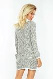 Dámské šaty Numoco 119-2 šedé
