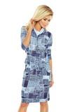 Dámské šaty Numoco 44-17 modré