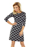 Dámské šaty Numoco 164-1 černo-šedé