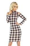 Dámské šaty Numoco 165-1 černo-růžové