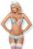 Erotický kostým Obsessive 834-CST světle modrý