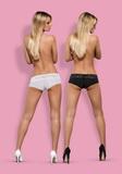 Erotické kalhotky Obsessive Lace - 2-balení bílé-černé
