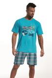 Pánské pyžamo Cornette 32665 Football cup tyrkysové