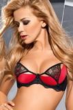 Erotická podprsenka Axami V-5321 DESIRE ME černo-červená
