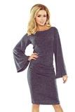 Dámské šaty Numoco 185-1 melanžové