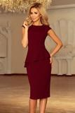Dámské šaty Numoco 192-6 vínové