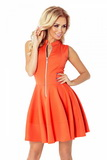 Dámské šaty Numoco 123-5 oranžové