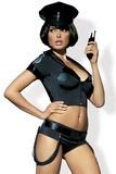 Dámský kostým Obsessive Police Set černý