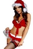 Dámský kostým LivCo Corsetti Christmas Hope červený