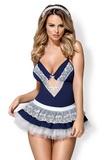 Dámský kostým Obsessive 872-CST modrý