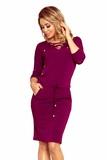 Dámské šaty Numoco 230-1 bordové
