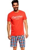 Pánské pyžamo Esotiq 36827 Jimmy korálové