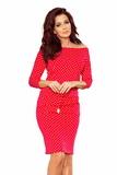 Dámské šaty Numoco 13-98 červené