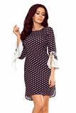 Dámské šaty Numoco 232-1 černo-bílé