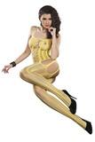 Pruhované body LivCo Corsetti Almas žluté