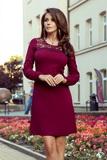 Dámské šaty Numoco 291-1 Moira bordové