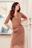 Dámské šaty Numoco 161-15 hnědé