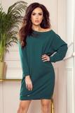 Dámské šaty Numoco 293-1 Oversize zelené