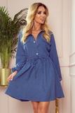Dámské šaty Numoco 298-1 Clara modré