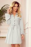 Dámské šaty Numoco 298-1 Clara šedé