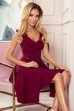 Dámské šaty Numoco 307-3 Pola bordové