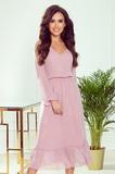 Dámské šaty Numoco 304-1 růžové