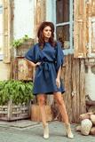 Dámské šaty Numoco 287-7 Sofia modré