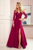 Dámské šaty Numoco 309-1 Amber bordové