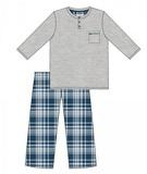 Pánské pyžamo Cornette 125169 Dave melanžové