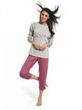 Dámské pyžamo Cornette 147157 Iga šedé