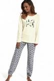 Dámské pyžamo Cornette 627156 Its snowing 2 krémové