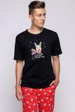 Pánské pyžamo Sensis Rudolfo černé