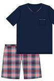 Pánské pyžamo Cornette 329113 Steve  modré