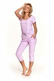 Dámské pyžamo Taro 2503 Kamila fialové
