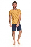 Pánské pyžamo Taro 072 Max žluté